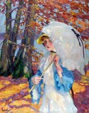 Edward Cucuel (américain 1875-1954) - Ombrelle blanche