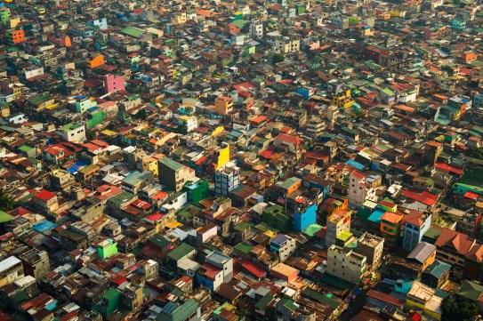 Aerial photo over Manila, Phillipines