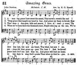 """""""Cudowna łaska Twa"""" (Amazing Grace) w różnych wykonaniach"""