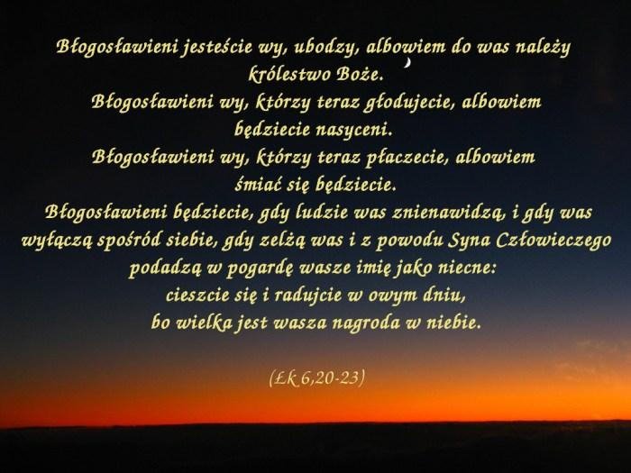 W owym czasie Jezus podniósł oczy na swoich uczniów i mówił: