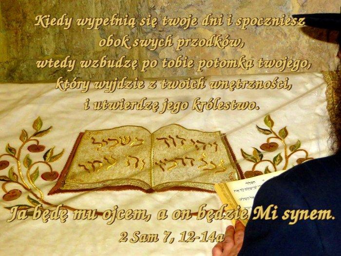 Gdy król zamieszkał w swoim domu, a Pan poskromił wokoło wszystkich jego wrogów…