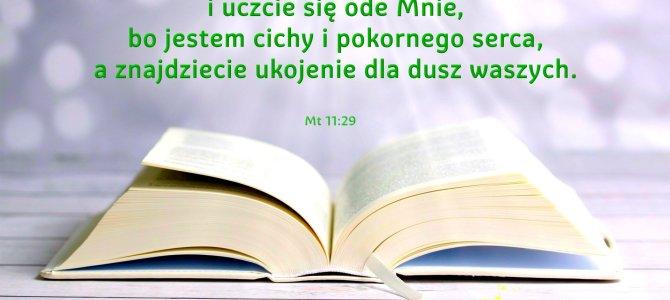 Weźcie na siebie moje jarzmo i uczcie się ode Mnie, bo jestem cichy i pokornego serca…