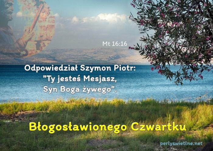 """Odpowiedział Szymon Piotr: """"Ty jesteś Mesjasz, Syn Boga żywego""""."""