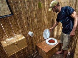 Compost toilet toilette