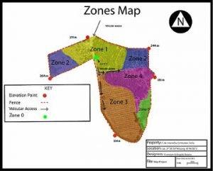 Mappa con le zone permacultura sicilia