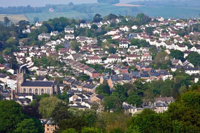 Pannelli solari Totnes in Devon.