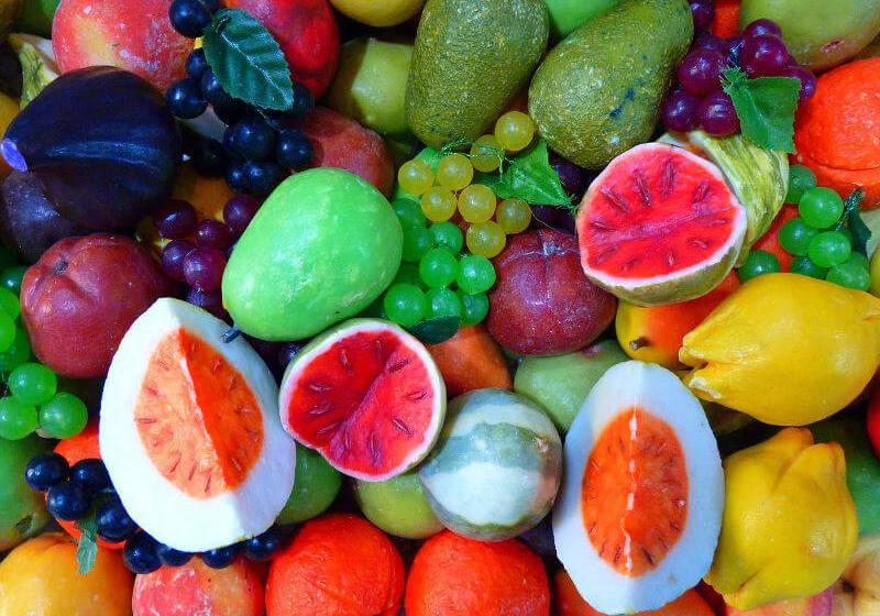Coloured fruits