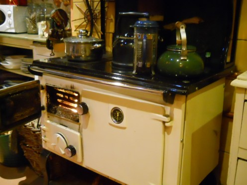 Stanley stove at Bealtaine Cottage