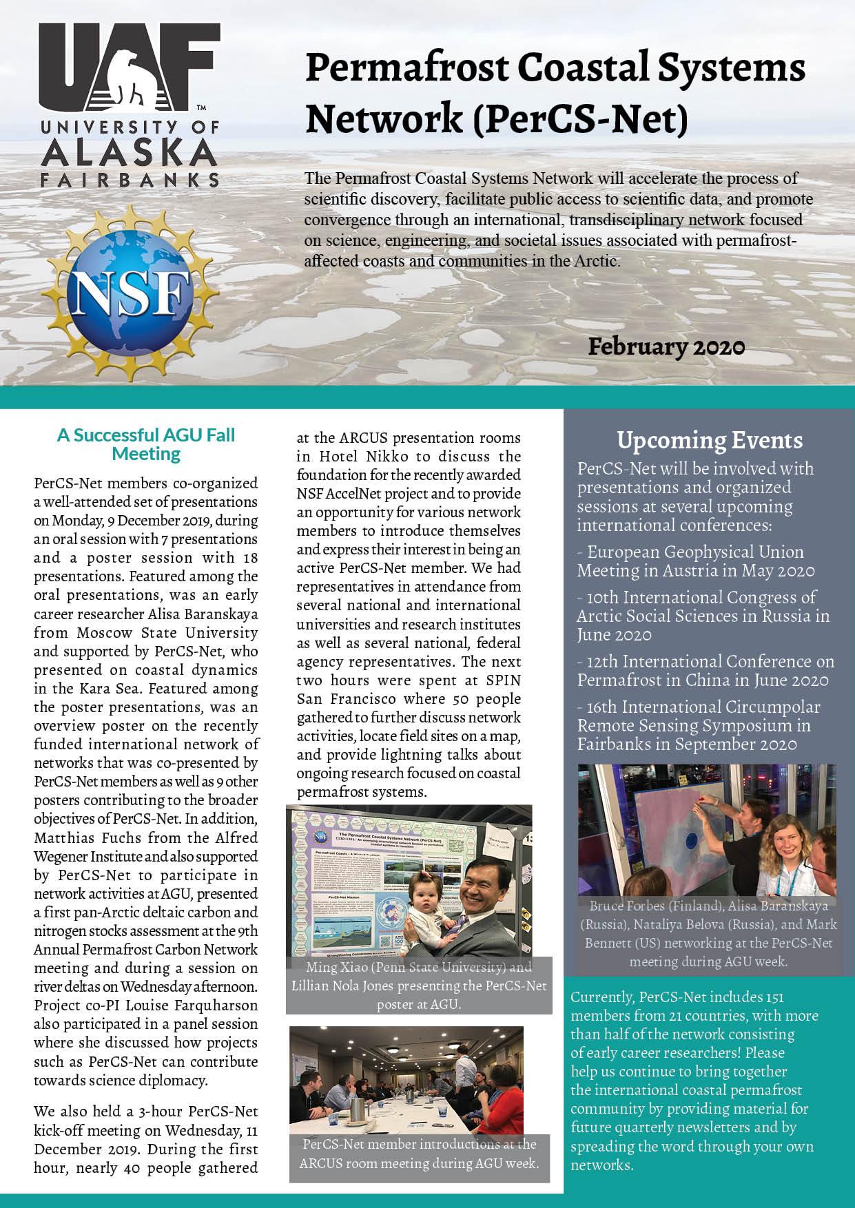 PerCS-Net Newsletter Feb2020