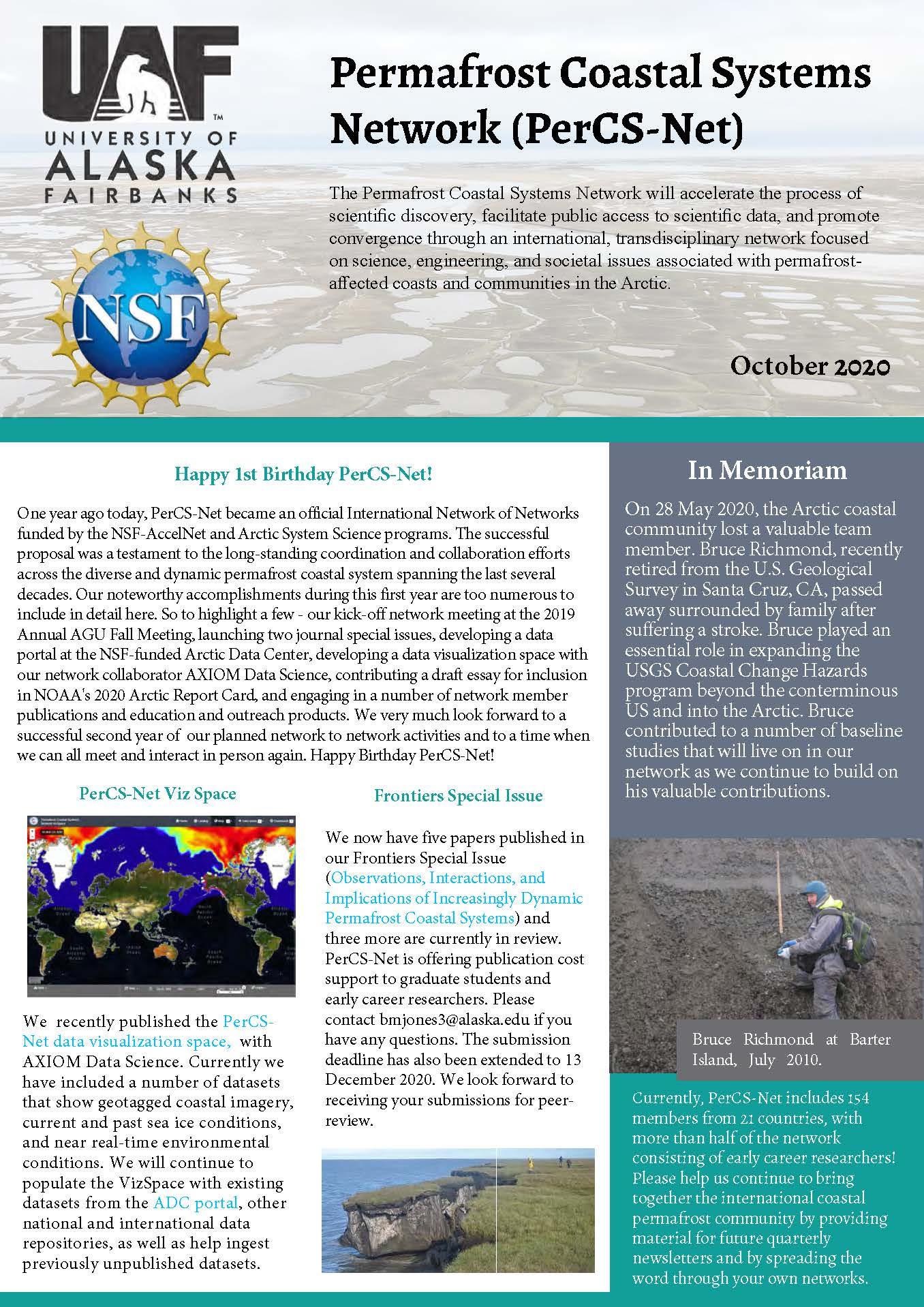 PerCS-Net Newsletter Oct 2020