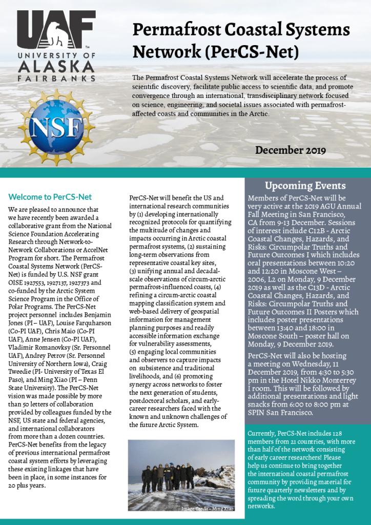 Dec 2020 - PerCS-Net Newsletter cover