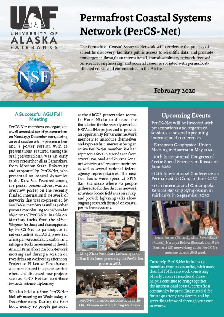 Feb 2020 - PerCS-Net Newsletter cover