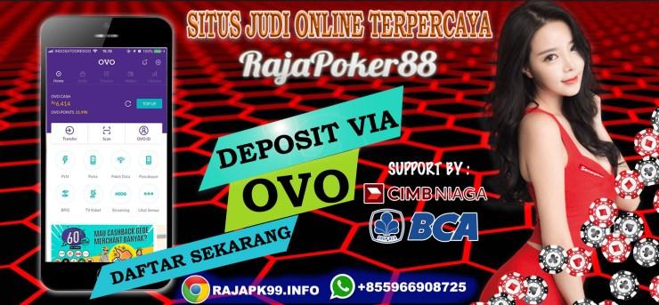 Cara Deposit Judi Via OVO Di Rajapoker88