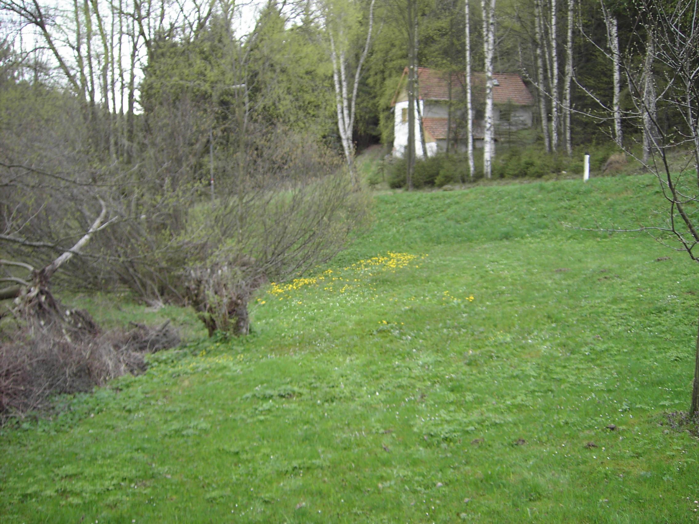 Grundstücksgrenze mit Bachlauf