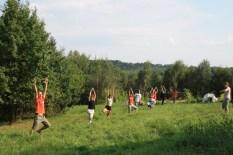 agrojoga :) posadziliśmy dwa rzędy drzew zgodnie z profilem terenu