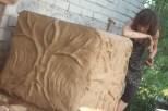 tynkowanie gliną pieca