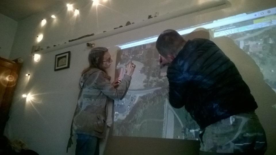 mapowanie terenu przy pomocy rzutnika i geoportalu