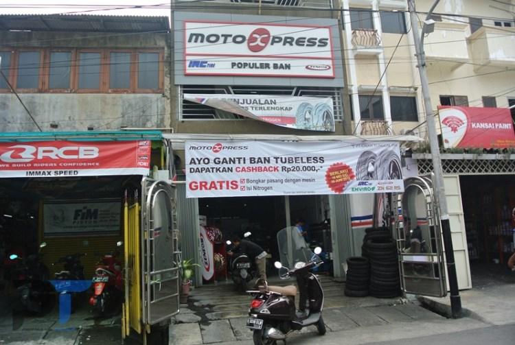 Toko ban motor Motoxpress Jakarta