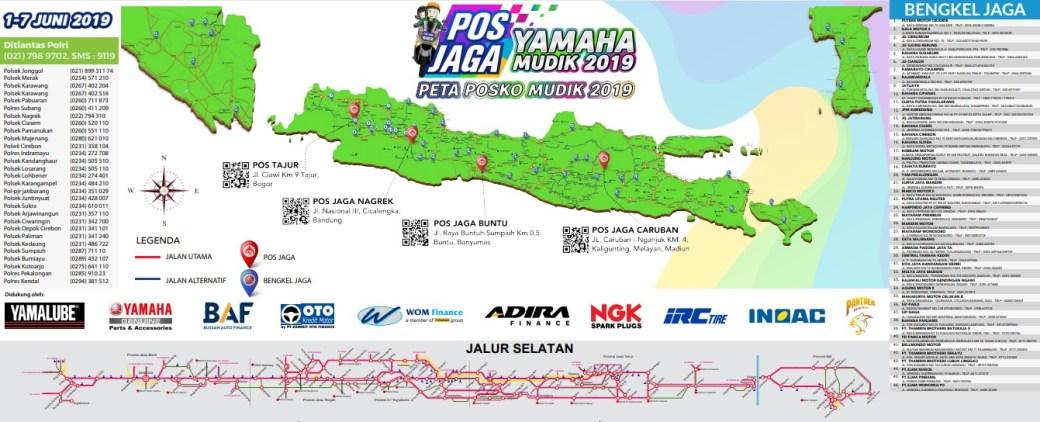 Ini peta posko mudik Yamaha 2019