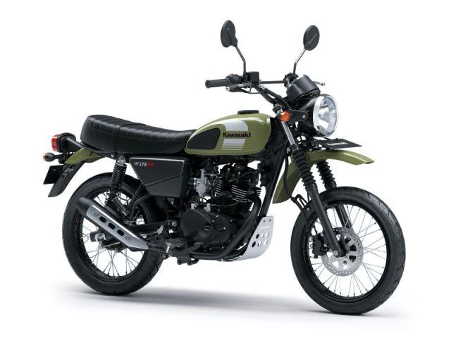 Kawasaki W175TR motor scrambler pertama di Indonesia