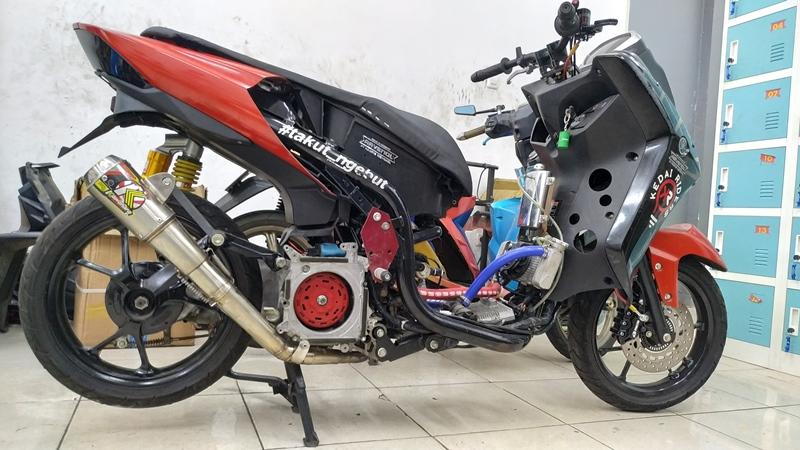 Modifikasi Yamaha Lexi 125 Ini Bikin Melongo, Bore Up Tembus 250cc!