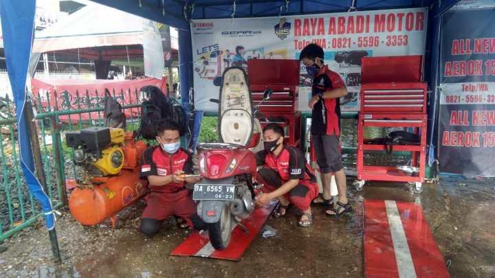 Yamaha Peduli Korban Banjir Kalsel, Buka Posko Service Gratis Untuk Semua Merek