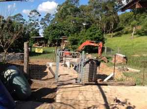 The methane gas bio-digester at the Permaculture Research Institute Sunshine Coast.
