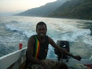 On our permaculture trip we went by small speedboat from Tasmate to Bareo and return