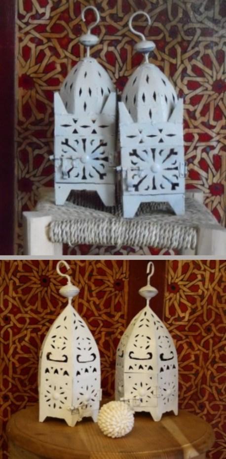 lanterne in ferro bianche
