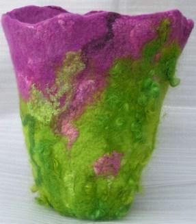 Wet Felted Vase