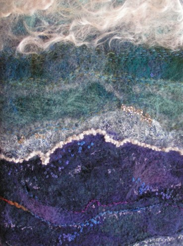 Felted, Stitched and Beaded Book Cover