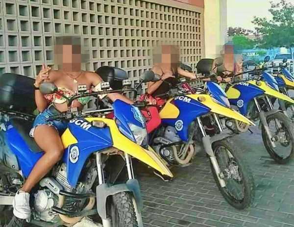 Garotas fazem foto em motos da GM de Gravatá e quebram dois veículos; caso está sendo investigado