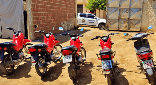 Guarda Municipal recupera seis motos roubadas em Santa Cruz do Capibaribe