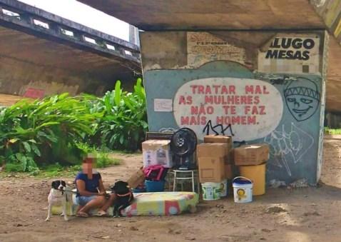 Mulher e dois cachorros são deixados em baixo de ponte; PRF resgata idosa Pernambuco Notícias
