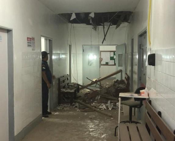 Bezerros: parte do teto de hospital desaba e assusta funcionários e pacientes