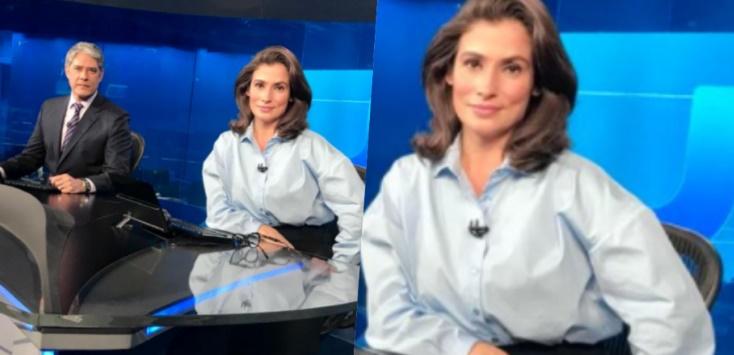 Apresentadora do Jornal Nacional vira piada na internet por usar roupa folgada