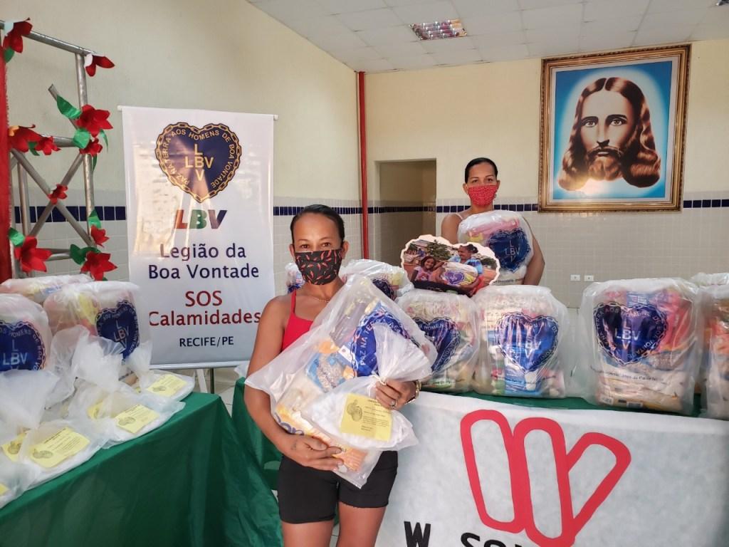 Em Recife, LBV ampara famílias atingidas pela Covid-19