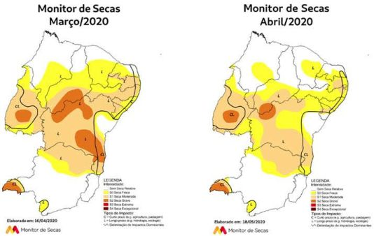 Chuva prova fim da seca em quase todo estado de Pernambuco