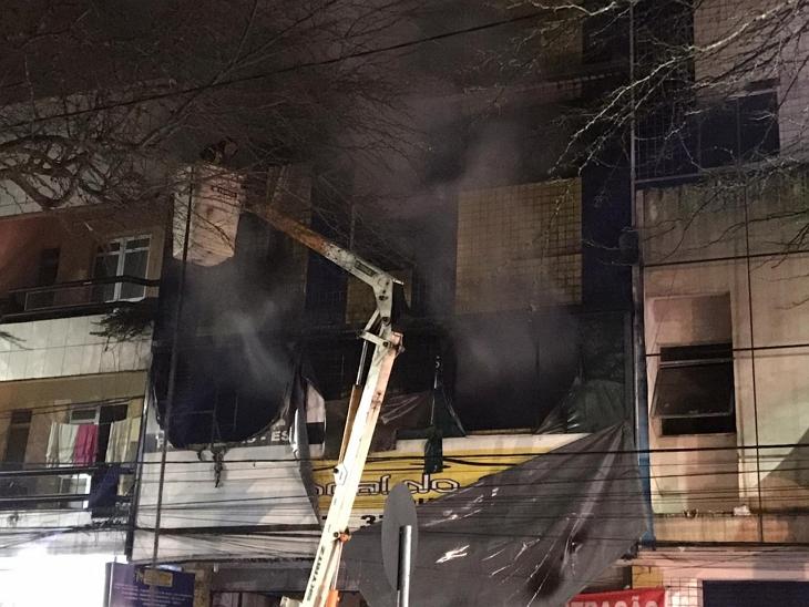 Incêndio de grandes proporções atinge loja e hotel em Garanhuns