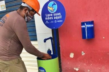Compesa instala lavatório público de mãos no centro de Bonito