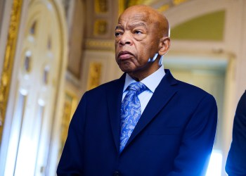 UNITED STATES - DECEMBER 3: Rep. John Lewis, D-Ga., waits to enter the Senate chamber to listen to the farewell address of the Sen. Johnny Isakson, R-Ga., in the Capitol on Tuesday, December 3, 2019. (Photo By Tom Williams)