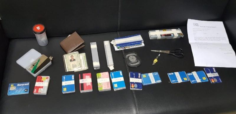 Com 150 cartões clonados, Polícia Federal prende homem no Aeroporto do Recife