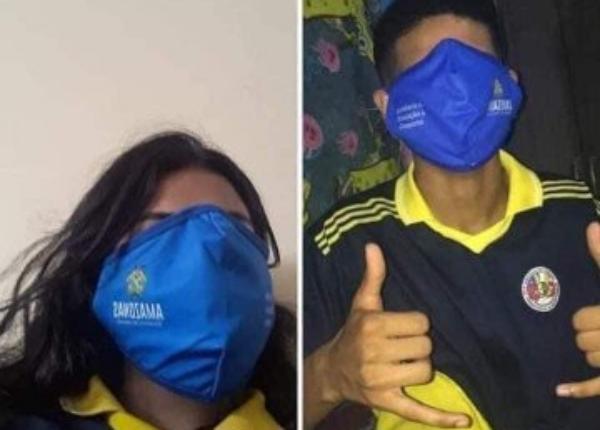 Vira meme máscaras distribuídas pela Secretaria de Educação de Manaus