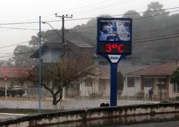 Temperatura despenca e eleva possibilidade de neve em Santa Catarina