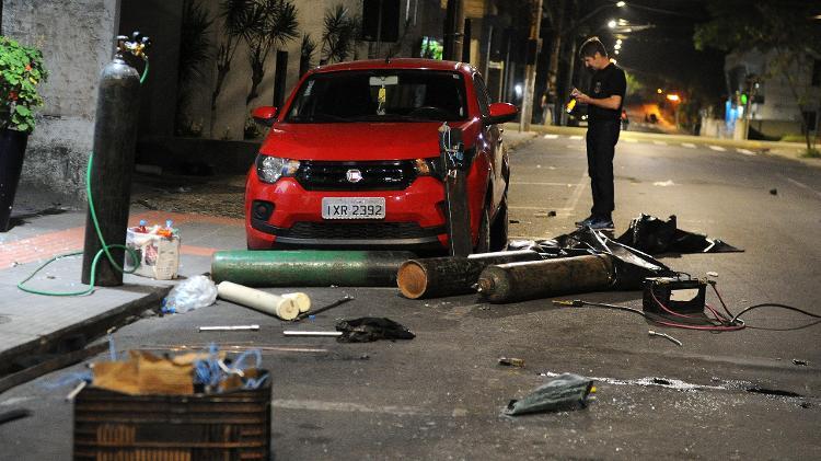 Criciúma vive madrugada de terror durante assalto ao Banco do Brasil