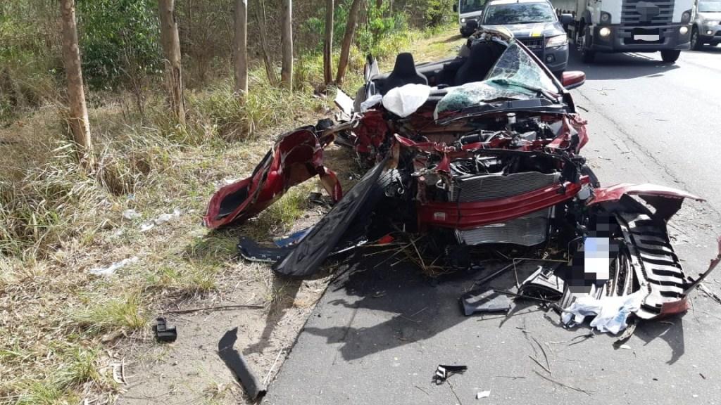 Terrível acidente registrado na BR-232 em Bonança