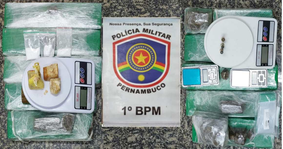 PM apreende grande quantidade de droga em Olinda