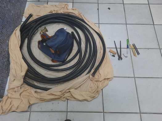 PM combate furto de fios com rigor