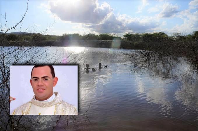 Padre Fernando teria salvo mãe e criança de 4 anos antes de afundar e morrer afogado em açude de Bezerros