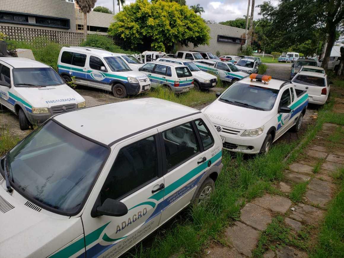 carros da adagro sucateados foto divulgacao